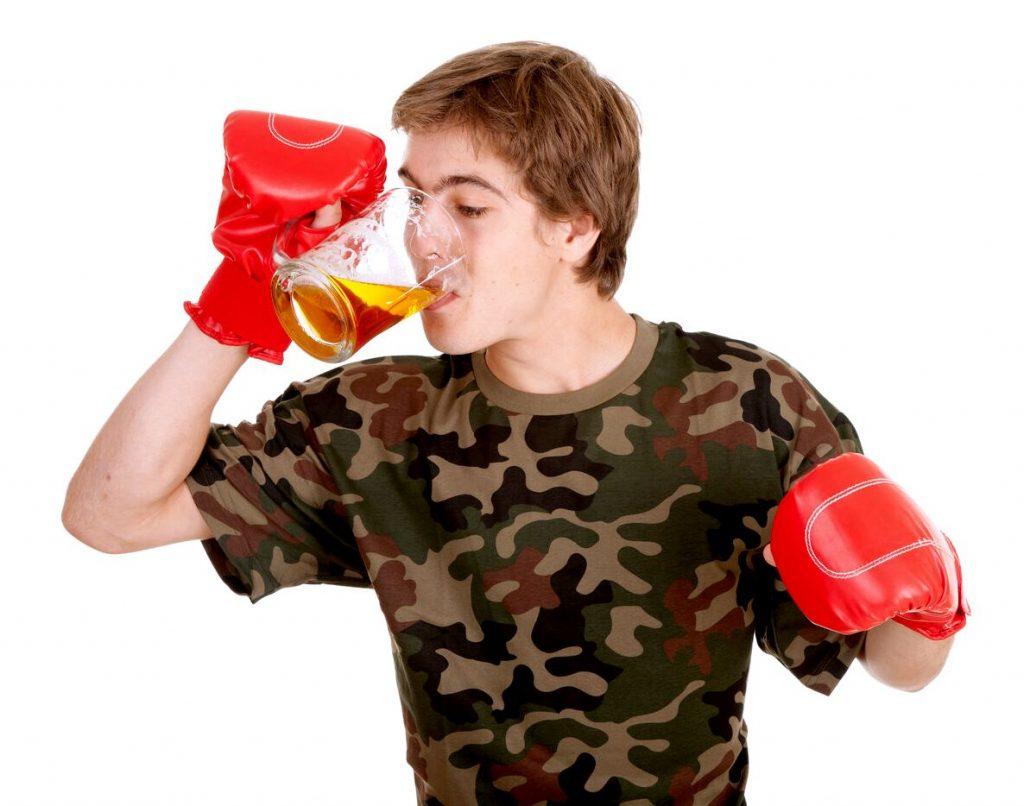 Боксер и алкоголь