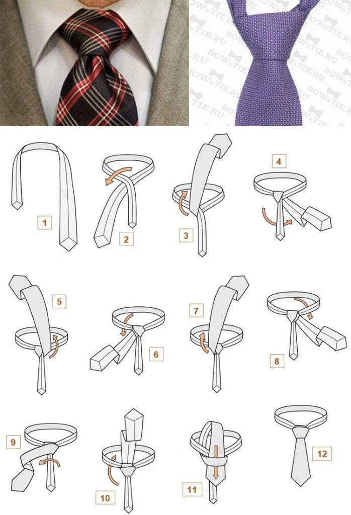 Как завязать галстук узлом винзор
