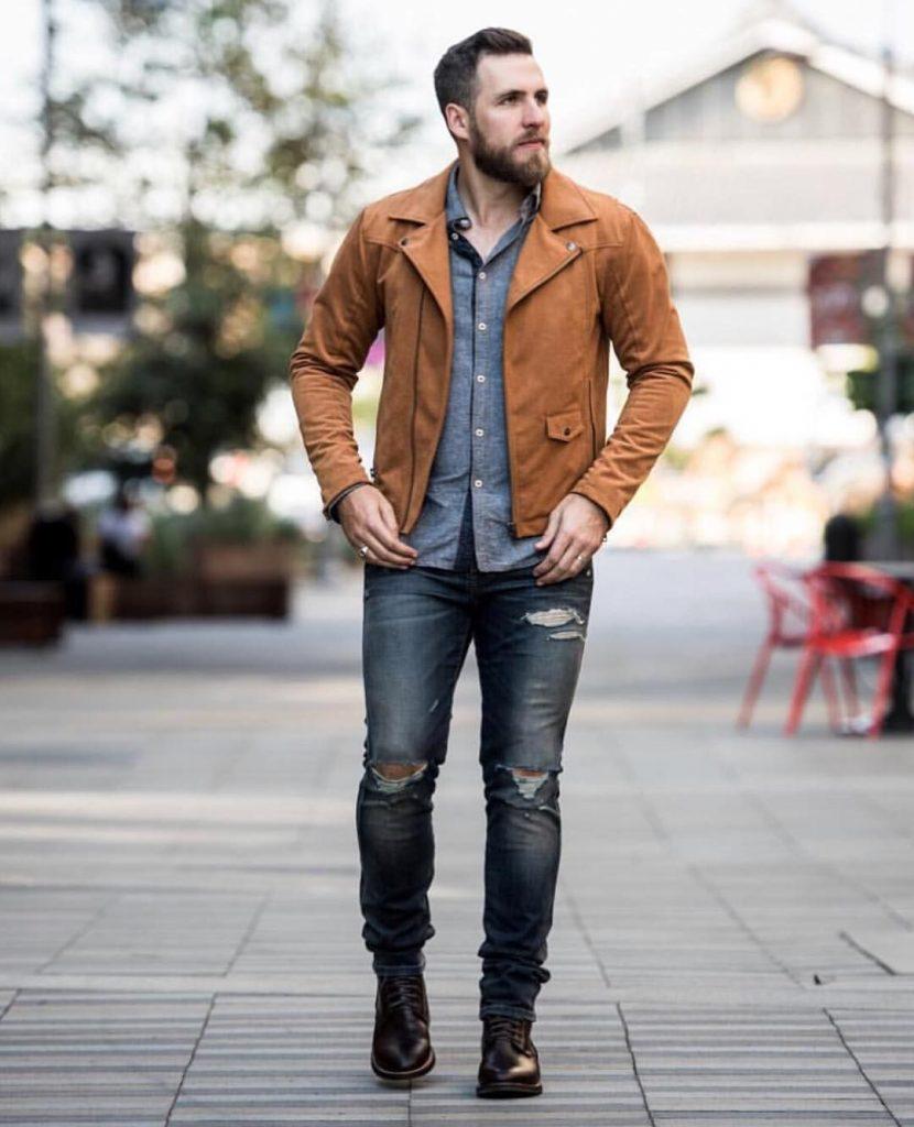 Мужская коричневая рубашка