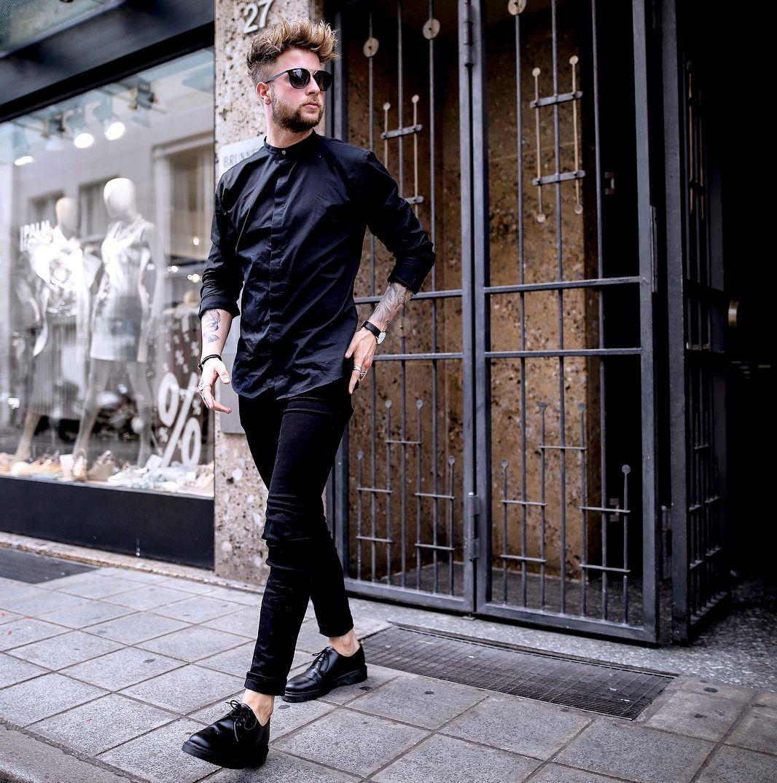 Черная мужская рубашка