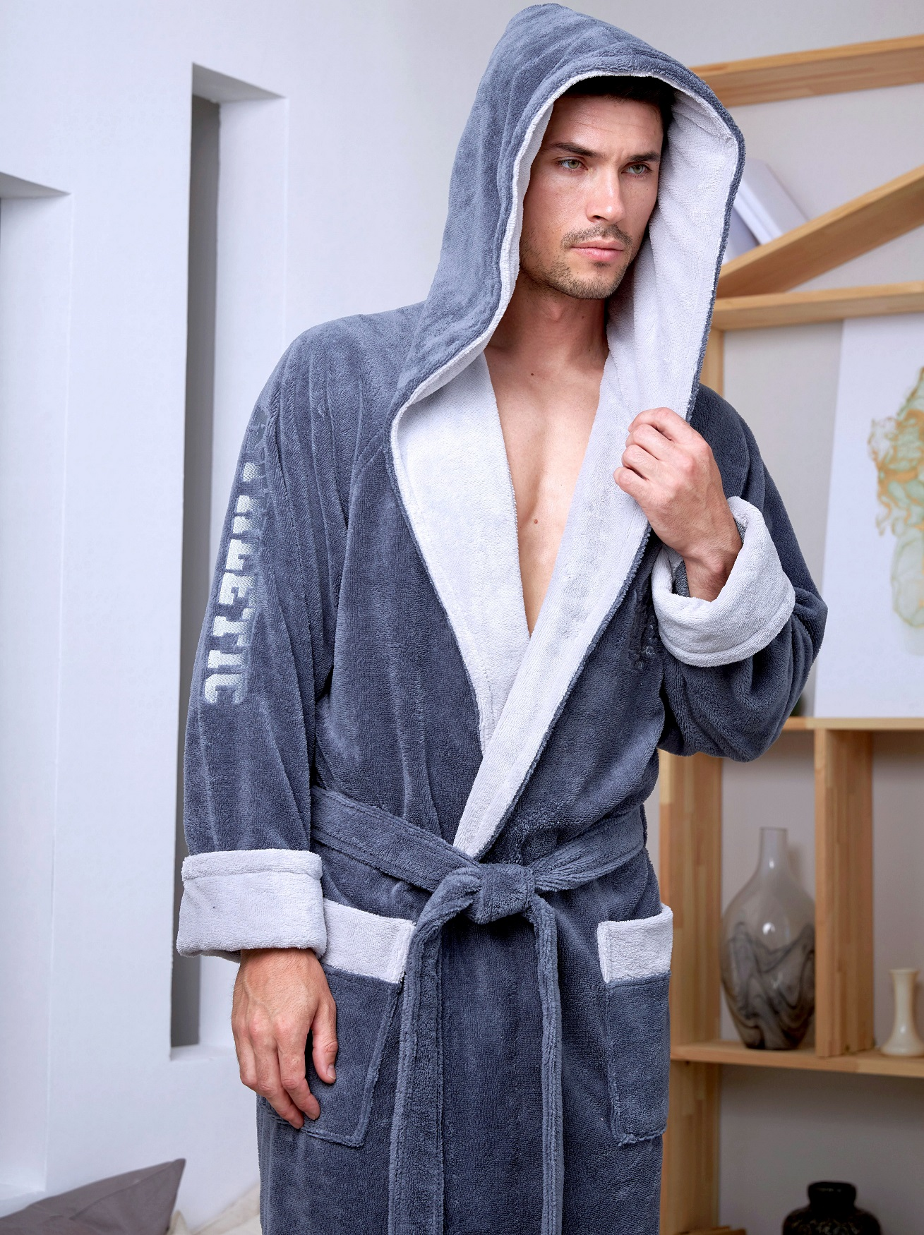 Теплый мужской халат