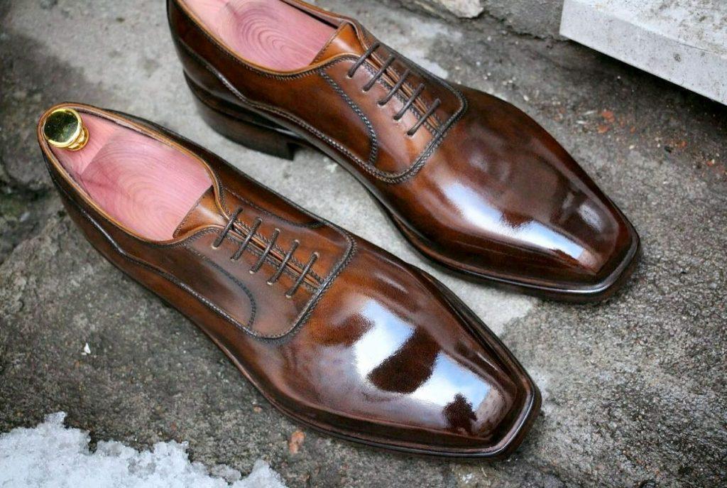 Коричневые туфли ручной работы