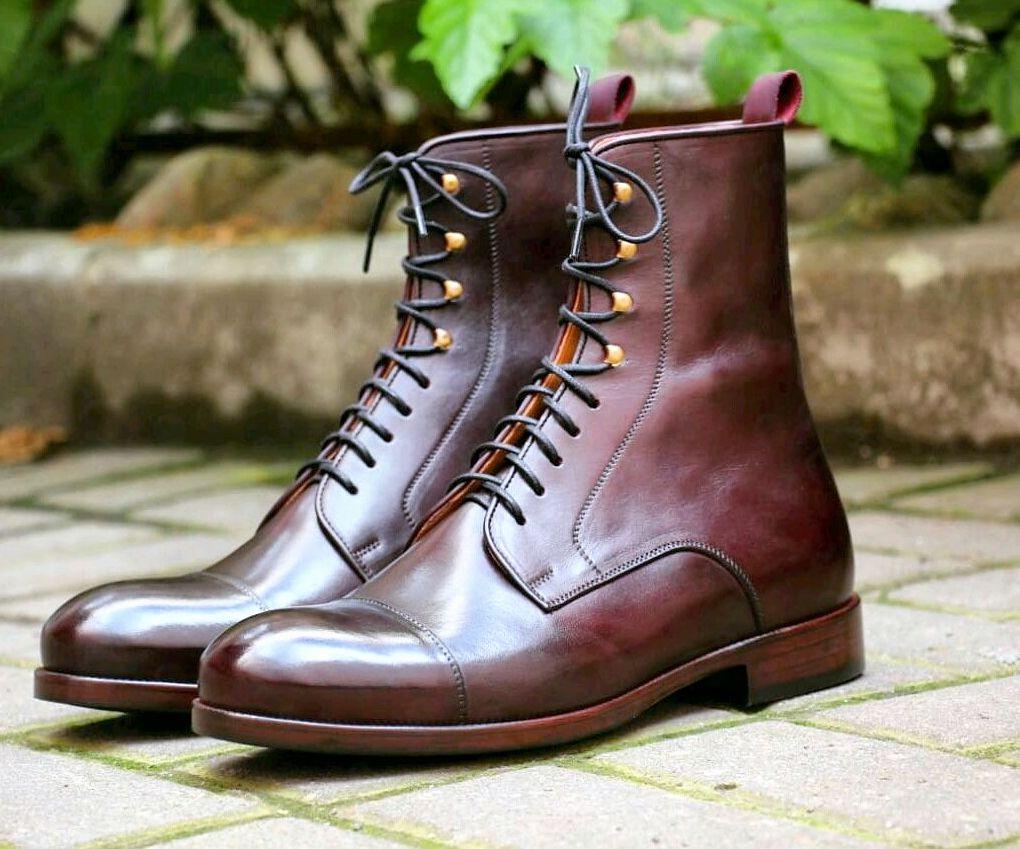 Высокие ботинки ручной работы