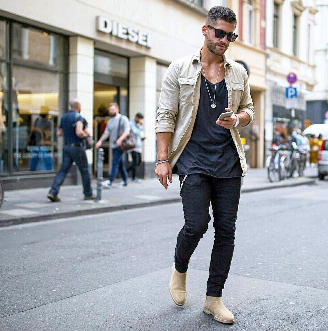 street-casual стиль мужской одежды