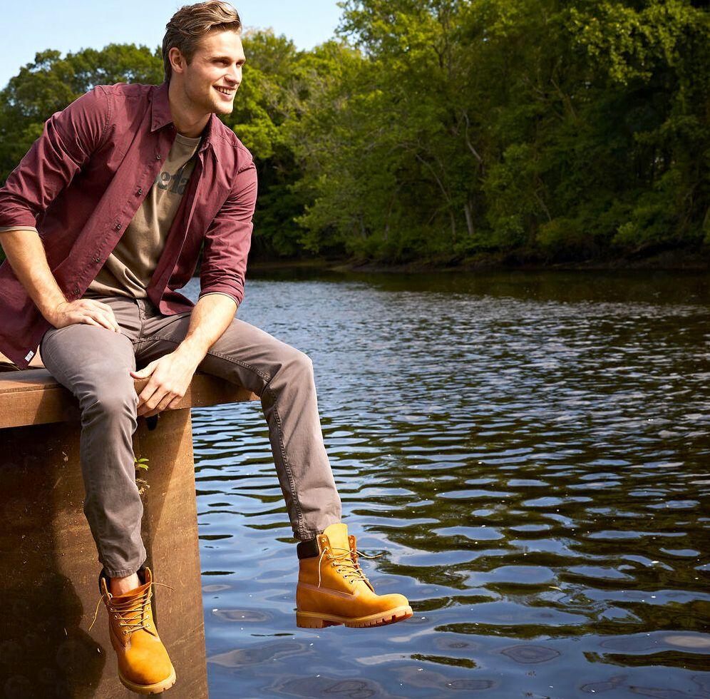 Timberland желтые ботинки
