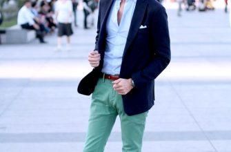 Зеленые зауженные брюки