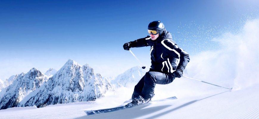 Зимний горнолыжный курорт