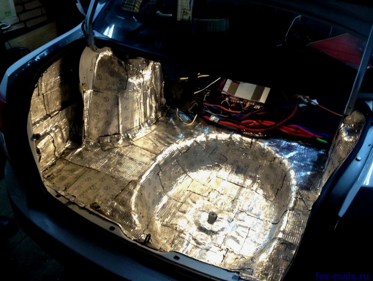 виброизоляция багажника