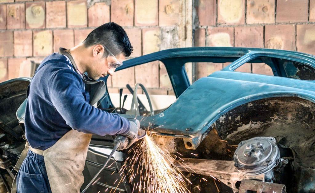 ремонт авто из утиля